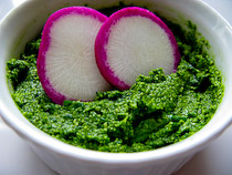 Schrambling_090618_radish green pesto_