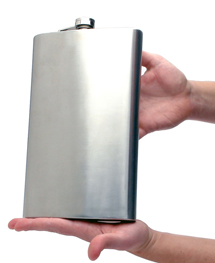 Tailgating_giant_flask