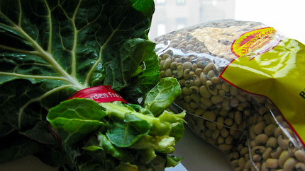 Schrambling_091230_collards & blackeyed peas-3