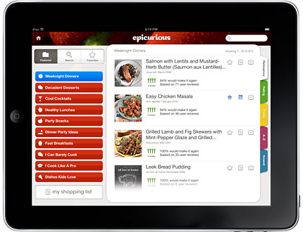 Epicurious-ipad-app