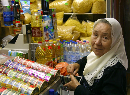 a shopper in riga's central market
