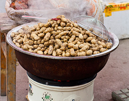 boiled peanuts in sandouping, china