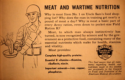 meat for the troops