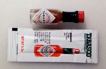Tabasco-packets
