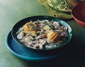 Colombian chicken corn potato stew