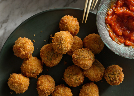 Ricotta-and-sage-fried-meatballs