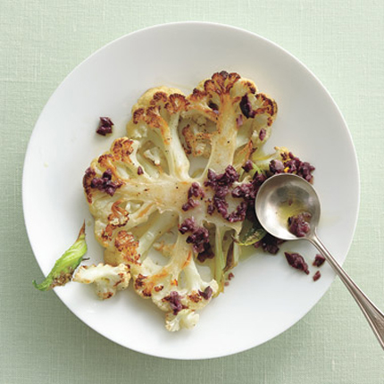 Roasted-Cauliflower-with-Kalamata-Vinaigrette