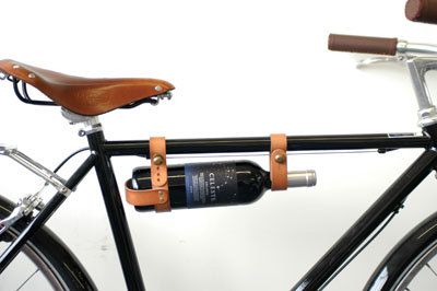 Bike wine rack