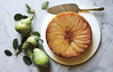 Pear-upside-down-cake