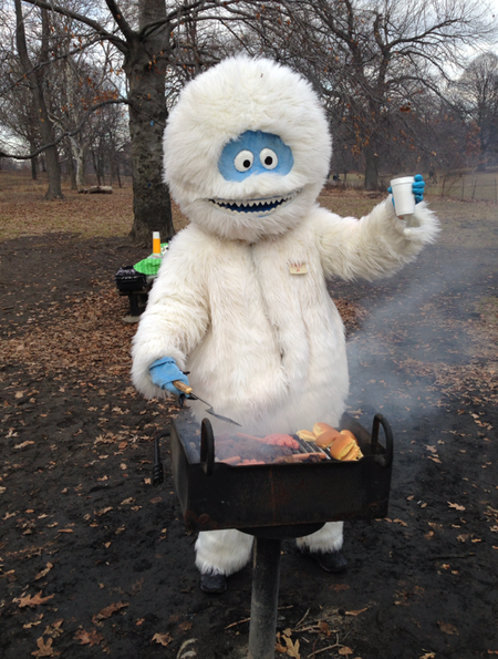 Abominable-snowman-tailgating