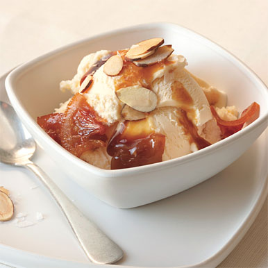 Caramelized Blood Orange and Almond Sundaes