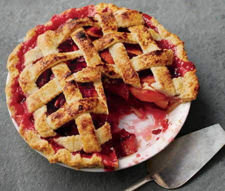 Nectarine, Plum, and Raspberry Pie