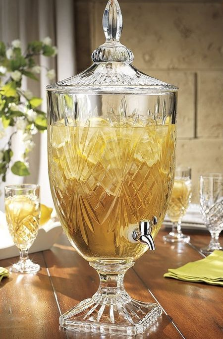 Fancy crystal drink dispenser