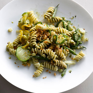 Pasta with perfect pesto