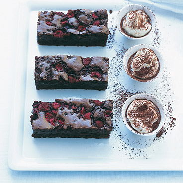 Raspberry-Spiked Chocolate Brownies