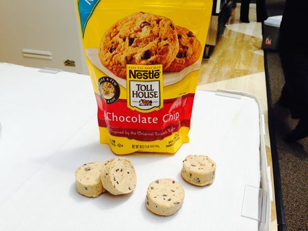Frozen chocolate chip cookies