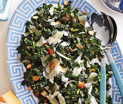 Kale-sald-with-dates-parmesan-and-almonds