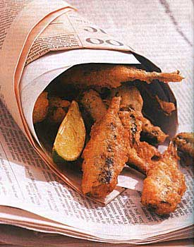 Beer-Batter-Fried Sardines