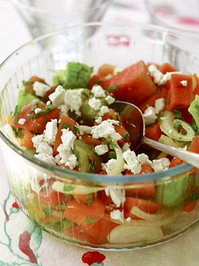 Watermelon, Tomato and Mint Salad