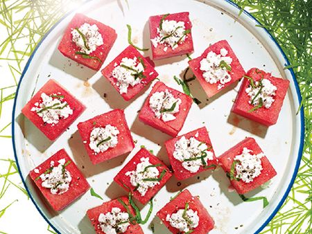 Feta-Stuffed Watermelon Blocks