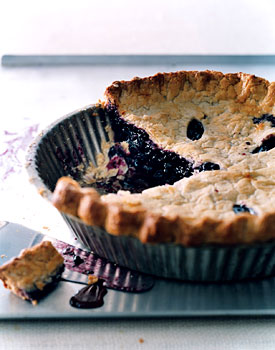 Deep-Dish Wild Blueberry Pie