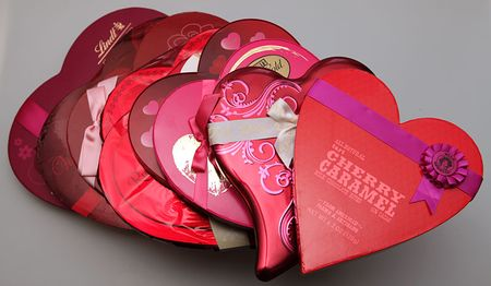 Heart-shaped-boes-of-chocolates