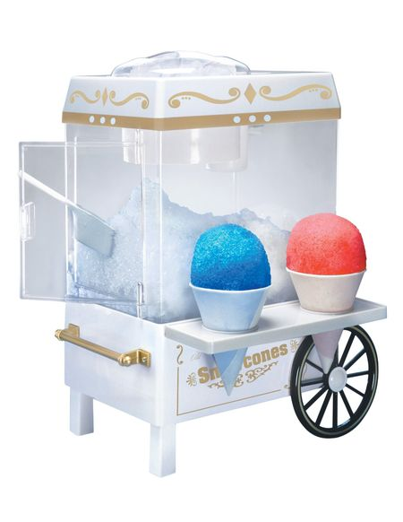 Nostalgic snow cone machine