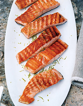 Salmon lime butter