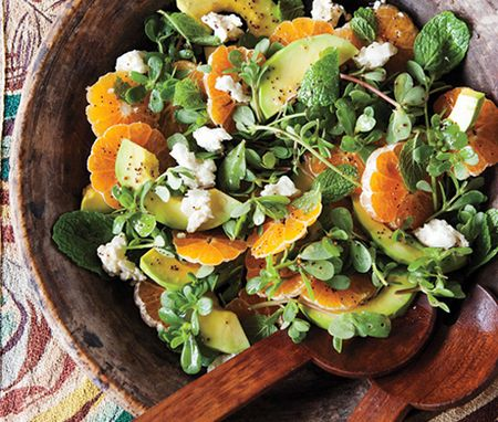 Avocado and Tangerine Salad with Jalapeño Vinaigrette