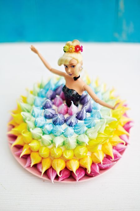 Rainbow Princess Doll Cake