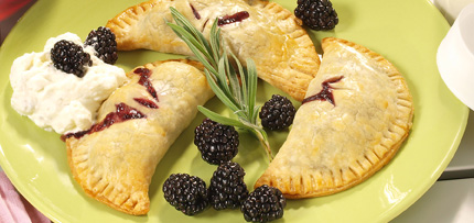 Melissa Mullins' Blackberry Hand Pies with Jar-Whipped Lavender Cream