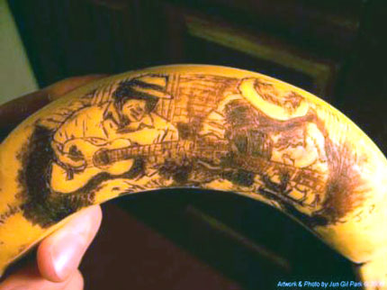 I have a confession to make: Sometimes I draw on my bananas.